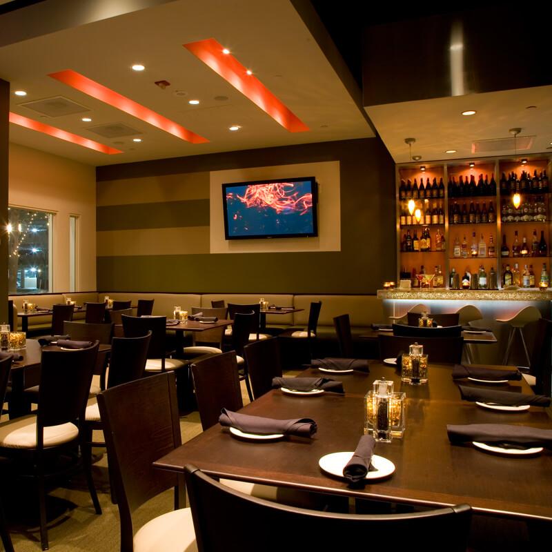 Modern restaurant vip room in reston va paolo s